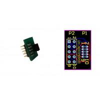 2x5 csatlakozó adapter 1,27 -> 2,54