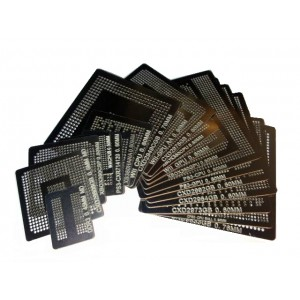 BGA újragolyózó sablon készlet XBOX/PS3/WII (20db)