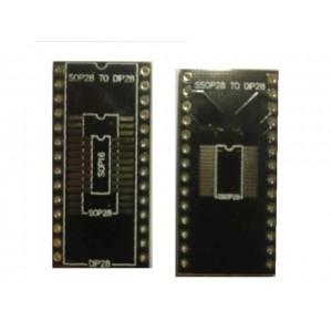 SOIC28 és SSOP28 to DIP28 adapter - három az egyben - csak nyáklap